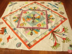 Medallion patchwork quilt with Australiana theme