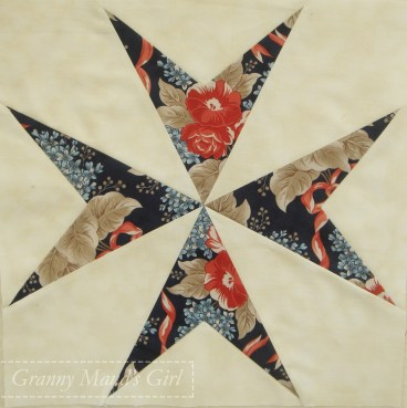 Star patchwork block