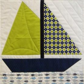 Boat (yacht) quilt block