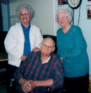 From left to right, Irmarie Scott (August 8, 1918 - September 19, 2010), Malcolm Scott (November 2, 1914 - February 26, 2001), and Dee Laprarie Bass (April 28, 1911 - January 28, 2005)