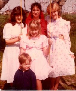 Jennifer, Nelda, Krista, Brady and Emily Adams