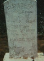 Elizabeth Wiley LaPrarie headstone