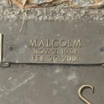Malcolm Scott's Headstone