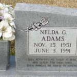 nelda's tombstone