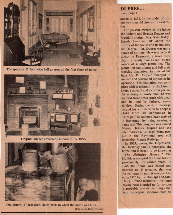 Article and photos by Becky Drake. Published in Hinds County Gazette, June 1987