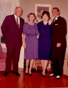 Robert and Myrtle BEasley with Peggy and James Hester