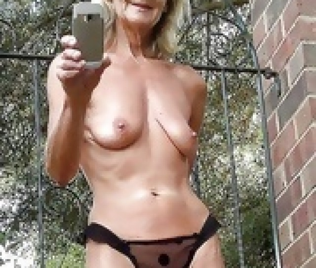 Old Slut Shows Pussy