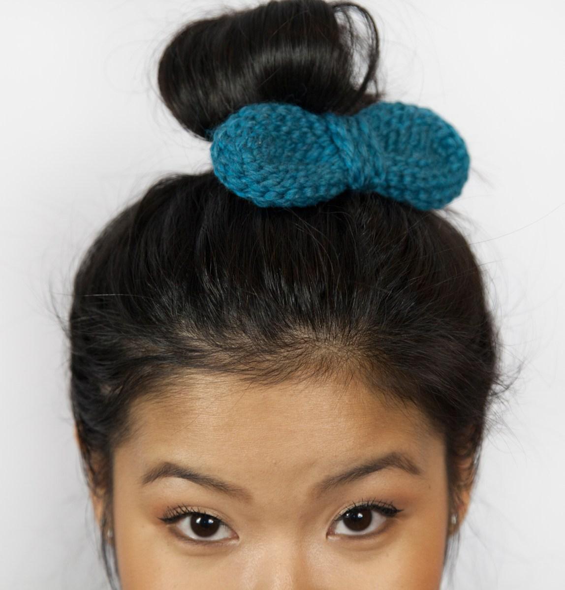 bow hair clip grannysquaredontcare