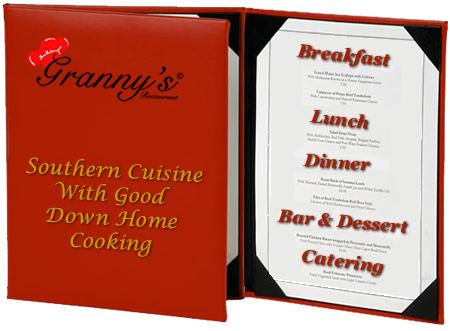 Granny's Restaurant - Menus