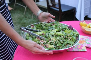 Keeping with the Spanish theme, I made a Spanish mixed greens salad with toasted almonds and a citrus vinaigrette.