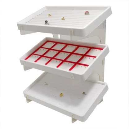 8003DT_3_Tier_Acrylic_Display_Stand_with_white_trays