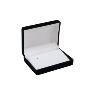 69ER earring ramp flocked box - black/white/white