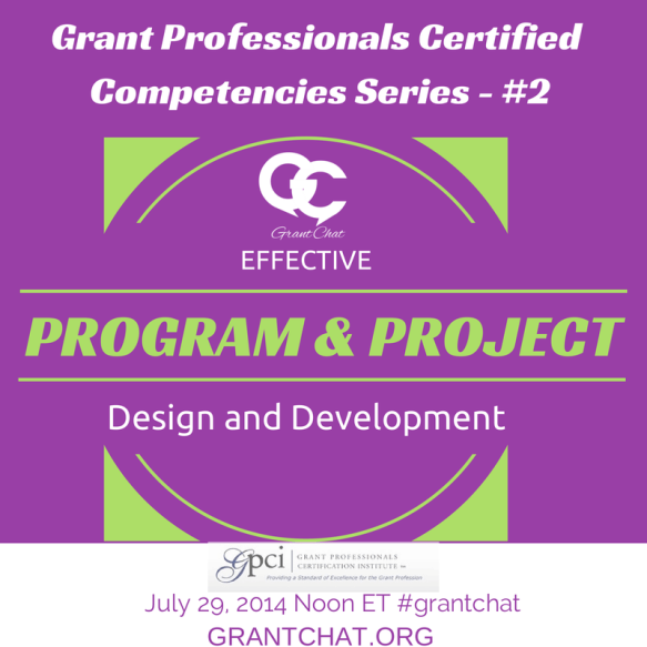 #Grantchat - Programs and Project Design