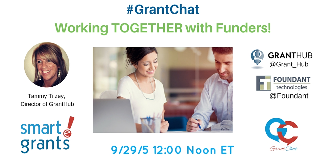 #Grantchat Working With Funders
