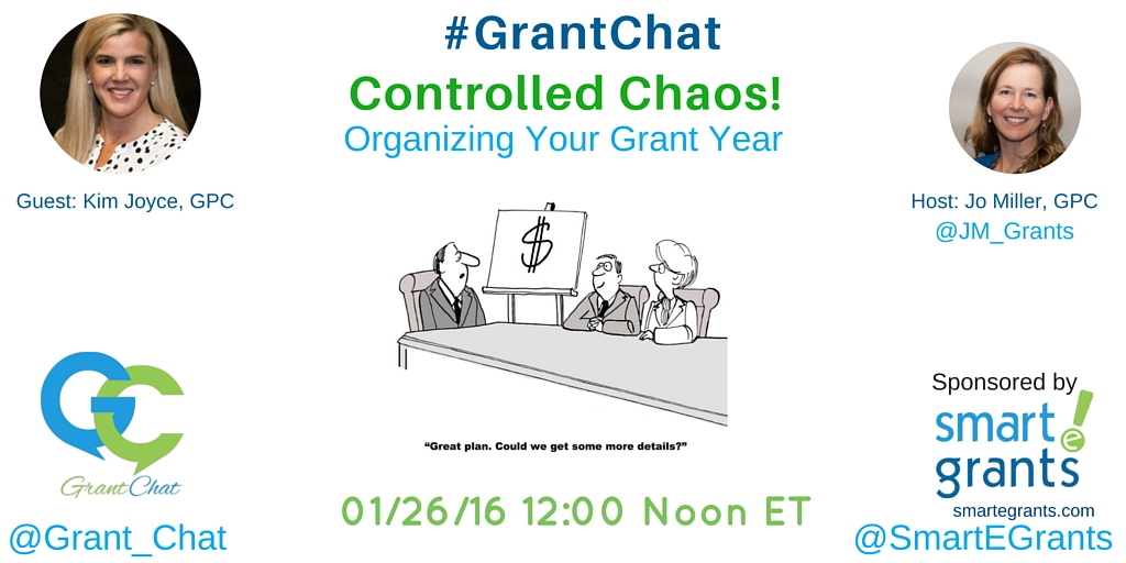 #Grantchat Topic: Controlled Chaos