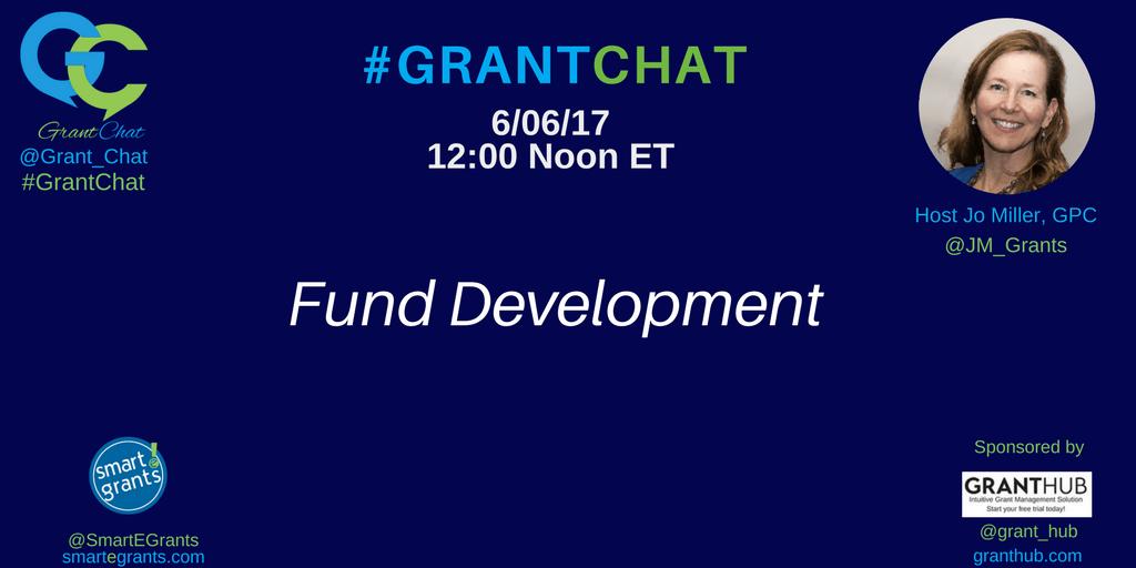 Fund Development on #Grantchat