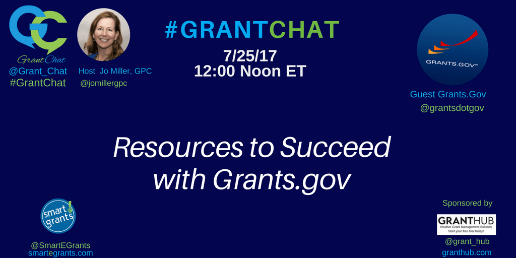 Grantsdogov on #GrantChat with Jo Miller GPC