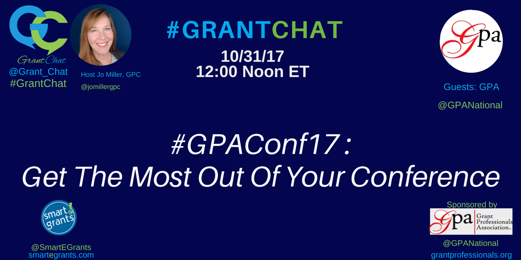 GPAConf17 Grant Professionals Association and Mike Chamberlain guest to talk about getting the most out of a conference.