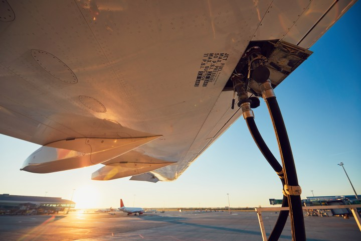 Refueling of the airplane