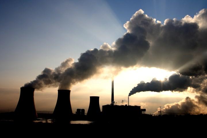 Coal power plant fumes