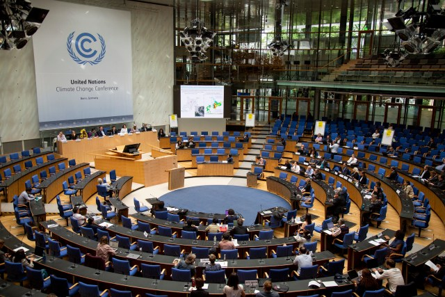 The eleventh meeting of the research dialogue Science for Transformation at the Chamber Hall at the UN Climate Conference in Bonn (c) UNclimatechange