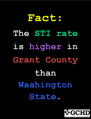 Sexually Transmitted Infections (STI) have a higher incidence rate in Grant County than Washington State.