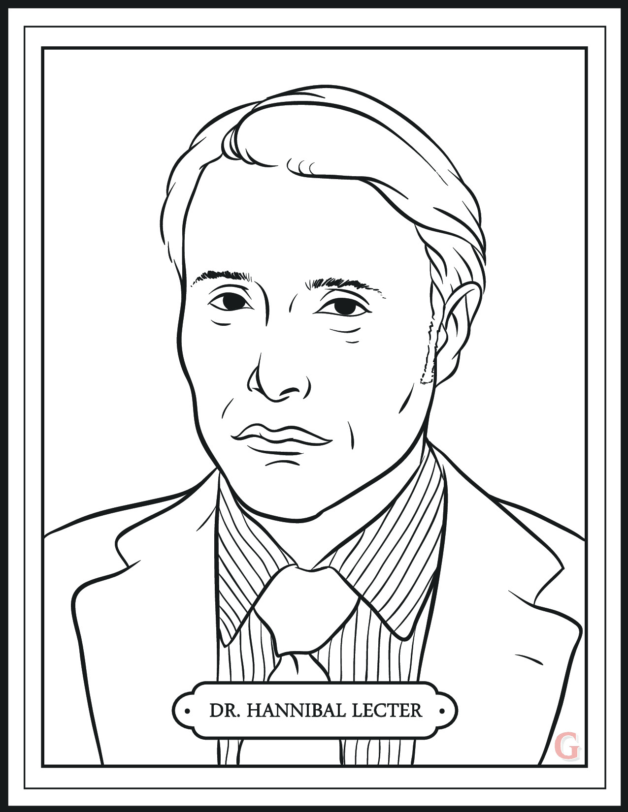 Hannibal' Returns Tonight. Enjoy This Mini Coloring Book