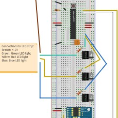 Addressable Led Strip Wiring Diagram Human Brain Limbic System Ws2811 Arduino Electronics