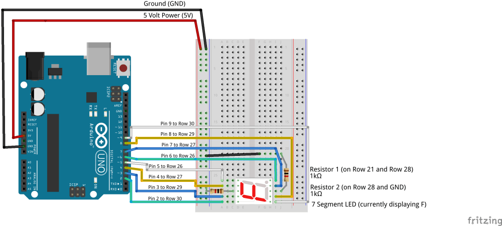 medium resolution of here is the wiring diagram for the seven segment led with all other pieces taken