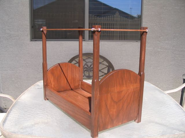 Stained Doll Bed