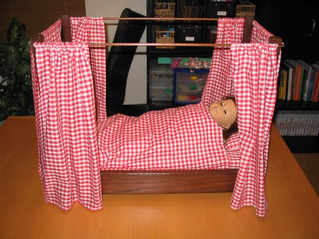 Finished doll bed