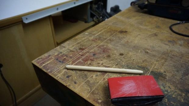 Hand sanding