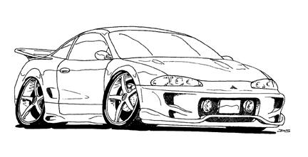 Carro Deportivo Mitsubishi Eclipse Cuarta Generacion2006