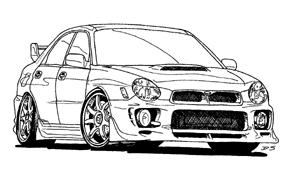 Subaru Wrx Sti Coloring Pages Sketch Coloring Page