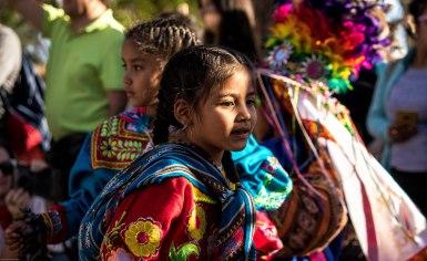 Children durng the Quechua dance