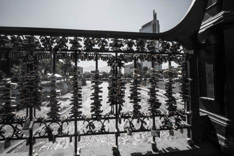 Locks on the bridge, Santiago