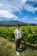 Matilde with the vines