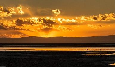 Sunset over Salar de Atacama