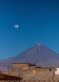 Volcano Licancabur over San Pedro_