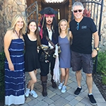 Gagnon Family (and Jack Sparrow) at their Blessing of the Vines