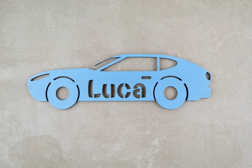 Für Kinder Individuelles Türschild aus Holz mit Auto-Motiv