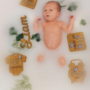 Geburt Foto-Shooting-Set zur Geburt aus Holz