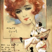 Flapper Girl Painted by Pierrot