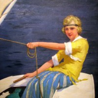 A Young Woman Sailor