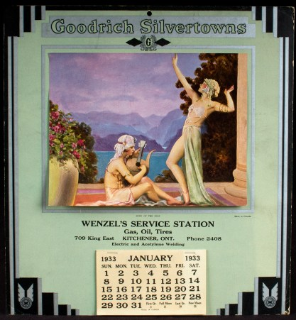 1933 Goodrich Silvertowns Tires Advertising Calendar of Song Of the Nile (Included in Sale)