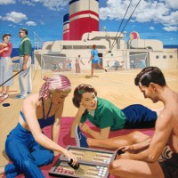 Backgammon Summer Scene Deckside