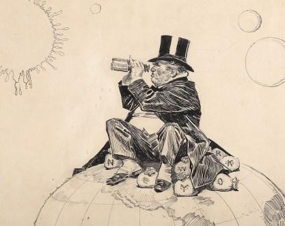Detail of fat cat industrialist