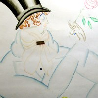 Dandy with Top Hat and Rose
