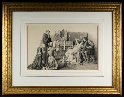Framed and French matted under glass