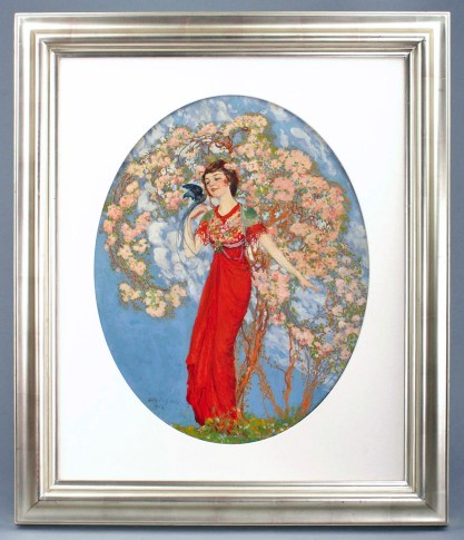 Framed view in handsome wide profile silver gallery frame